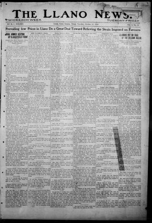 Primary view of object titled 'The Llano News. (Llano, Tex.), Vol. 31, No. 36, Ed. 1 Tuesday, October 13, 1914'.