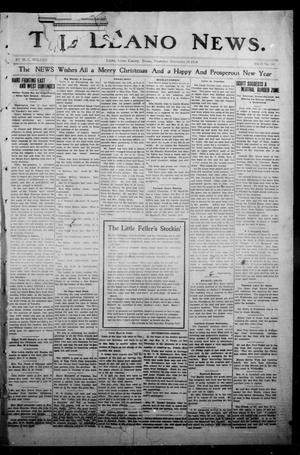 Primary view of object titled 'The Llano News. (Llano, Tex.), Vol. 31, No. 50, Ed. 1 Thursday, December 24, 1914'.