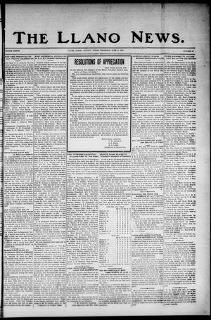 Primary view of object titled 'The Llano News. (Llano, Tex.), Vol. 37, No. 43, Ed. 1 Thursday, June 11, 1925'.