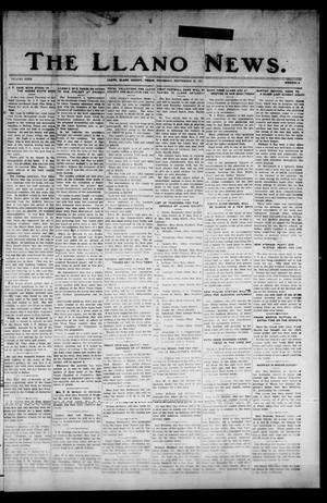 Primary view of object titled 'The Llano News. (Llano, Tex.), Vol. 40, No. 2, Ed. 1 Thursday, September 22, 1927'.