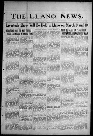 Primary view of object titled 'The Llano News. (Llano, Tex.), Vol. 45, No. 15, Ed. 1 Thursday, March 2, 1933'.