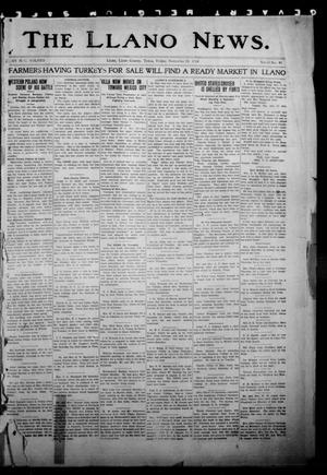 Primary view of object titled 'The Llano News. (Llano, Tex.), Vol. 31, No. 45, Ed. 1 Friday, November 20, 1914'.