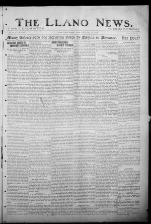 Primary view of object titled 'The Llano News. (Llano, Tex.), Vol. 30, No. 52, Ed. 1 Friday, May 29, 1914'.