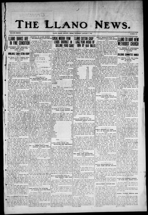 Primary view of object titled 'The Llano News. (Llano, Tex.), Vol. 38, No. 19, Ed. 1 Thursday, January 7, 1926'.