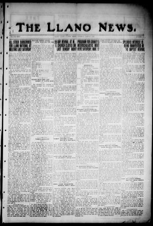 Primary view of object titled 'The Llano News. (Llano, Tex.), Vol. 35, No. 29, Ed. 1 Thursday, March 8, 1923'.