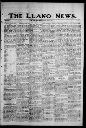 Primary view of object titled 'The Llano News. (Llano, Tex.), Vol. 42, No. 29, Ed. 1 Thursday, April 10, 1930'.
