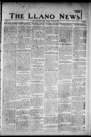Primary view of object titled 'The Llano News. (Llano, Tex.), Vol. 41, No. 3, Ed. 1 Thursday, September 20, 1928'.