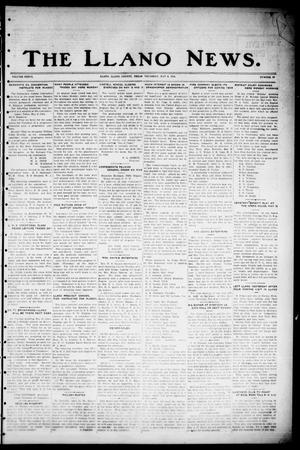 Primary view of object titled 'The Llano News. (Llano, Tex.), Vol. 36, No. 39, Ed. 1 Thursday, May 8, 1924'.