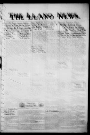 Primary view of object titled 'The Llano News. (Llano, Tex.), Vol. 56, No. 8, Ed. 1 Thursday, January 13, 1944'.