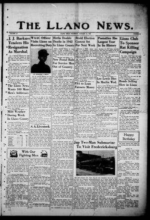 Primary view of object titled 'The Llano News. (Llano, Tex.), Vol. 55, No. 9, Ed. 1 Thursday, January 14, 1943'.