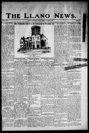 Primary view of object titled 'The Llano News. (Llano, Tex.), Vol. 39, No. 9, Ed. 1 Thursday, November 4, 1926'.