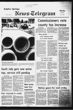 Primary view of object titled 'Sulphur Springs News-Telegram (Sulphur Springs, Tex.), Vol. 100, No. 168, Ed. 1 Monday, July 17, 1978'.