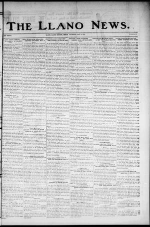 Primary view of object titled 'The Llano News. (Llano, Tex.), Vol. 37, No. 39, Ed. 1 Thursday, May 14, 1925'.