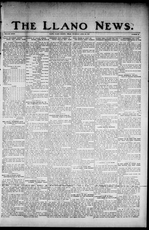 Primary view of object titled 'The Llano News. (Llano, Tex.), Vol. 39, No. 33, Ed. 1 Thursday, April 28, 1927'.