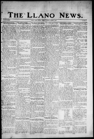 Primary view of object titled 'The Llano News. (Llano, Tex.), Vol. 38, No. 48, Ed. 1 Thursday, August 5, 1926'.