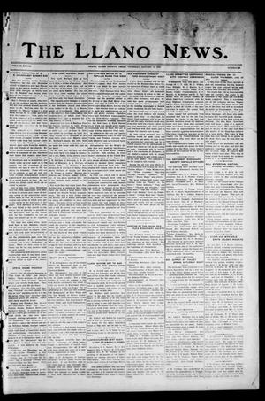 Primary view of object titled 'The Llano News. (Llano, Tex.), Vol. 38, No. 20, Ed. 1 Thursday, January 14, 1926'.