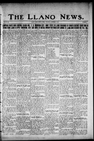 Primary view of object titled 'The Llano News. (Llano, Tex.), Vol. 41, No. 11, Ed. 1 Thursday, November 15, 1928'.