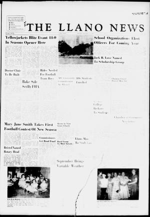 Primary view of object titled 'The Llano News (Llano, Tex.), Vol. 68, No. 41, Ed. 1 Thursday, September 12, 1957'.
