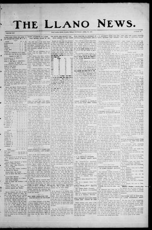 Primary view of object titled 'The Llano News. (Llano, Tex.), Vol. 45, No. 22, Ed. 1 Thursday, April 20, 1933'.