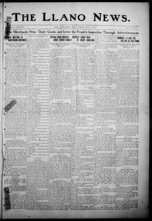 Primary view of object titled 'The Llano News. (Llano, Tex.), Vol. 29, No. 42, Ed. 1 Thursday, May 8, 1913'.