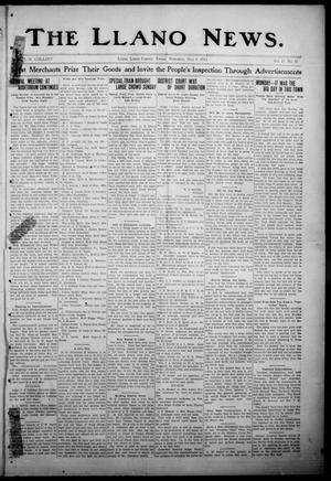 Primary view of The Llano News. (Llano, Tex.), Vol. 29, No. 42, Ed. 1 Thursday, May 8, 1913