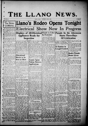 Primary view of object titled 'The Llano News. (Llano, Tex.), Vol. 52, No. 29, Ed. 1 Thursday, June 6, 1940'.