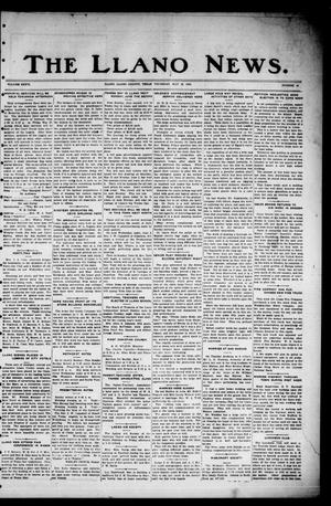 Primary view of object titled 'The Llano News. (Llano, Tex.), Vol. 36, No. 42, Ed. 1 Thursday, May 29, 1924'.