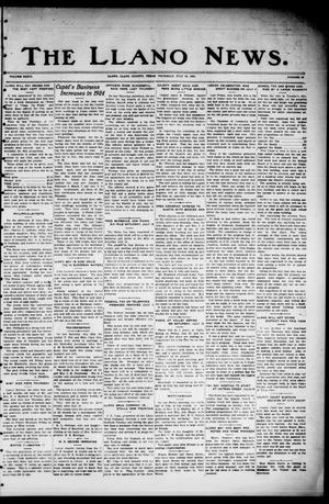 Primary view of object titled 'The Llano News. (Llano, Tex.), Vol. 36, No. 48, Ed. 1 Thursday, July 10, 1924'.