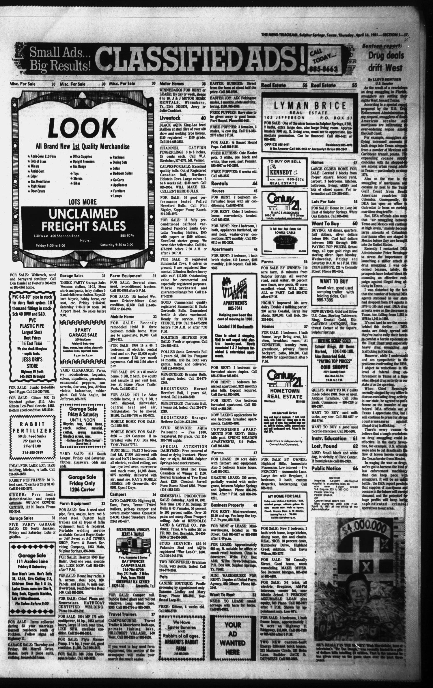 Sulphur Springs News-Telegram (Sulphur Springs, Tex ), Vol