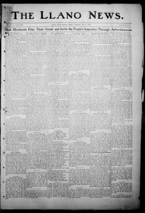 Primary view of The Llano News. (Llano, Tex.), Vol. 29, No. 46, Ed. 1 Thursday, June 5, 1913