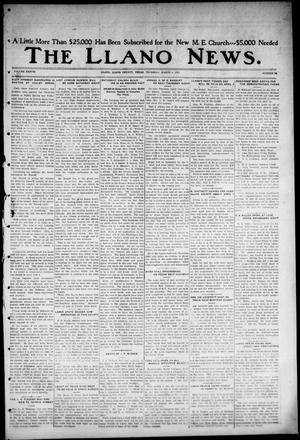 Primary view of object titled 'The Llano News. (Llano, Tex.), Vol. 38, No. 26, Ed. 1 Thursday, March 4, 1926'.