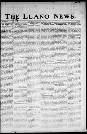 Primary view of object titled 'The Llano News. (Llano, Tex.), Vol. 40, No. 9, Ed. 1 Thursday, November 10, 1927'.