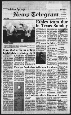 Primary view of object titled 'Sulphur Springs News-Telegram (Sulphur Springs, Tex.), Vol. 111, No. 96, Ed. 1 Sunday, April 23, 1989'.