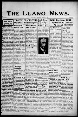 Primary view of object titled 'The Llano News. (Llano, Tex.), Vol. 51, No. 10, Ed. 1 Thursday, February 2, 1939'.