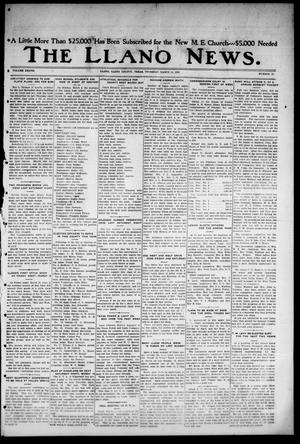 Primary view of object titled 'The Llano News. (Llano, Tex.), Vol. 38, No. 27, Ed. 1 Thursday, March 11, 1926'.