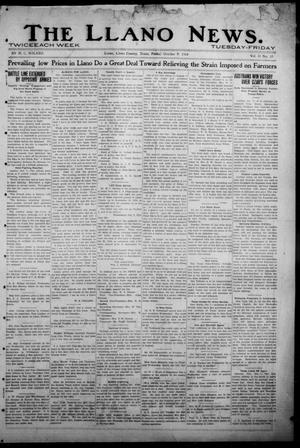 Primary view of object titled 'The Llano News. (Llano, Tex.), Vol. 31, No. 35, Ed. 1 Friday, October 9, 1914'.