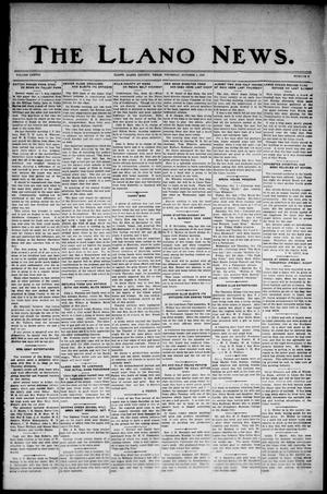 Primary view of object titled 'The Llano News. (Llano, Tex.), Vol. 38, No. 6, Ed. 1 Thursday, October 1, 1925'.