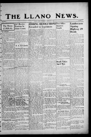 Primary view of object titled 'The Llano News. (Llano, Tex.), Vol. 51, No. 11, Ed. 1 Thursday, February 9, 1939'.