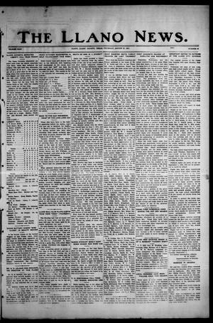 Primary view of object titled 'The Llano News. (Llano, Tex.), Vol. 43, No. 47, Ed. 1 Thursday, August 27, 1931'.