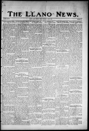 Primary view of object titled 'The Llano News. (Llano, Tex.), Vol. 38, No. 39, Ed. 1 Thursday, June 3, 1926'.