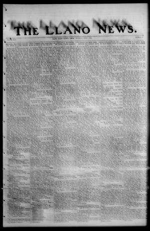 Primary view of object titled 'The Llano News. (Llano, Tex.), Vol. 42, No. 37, Ed. 1 Thursday, June 5, 1930'.