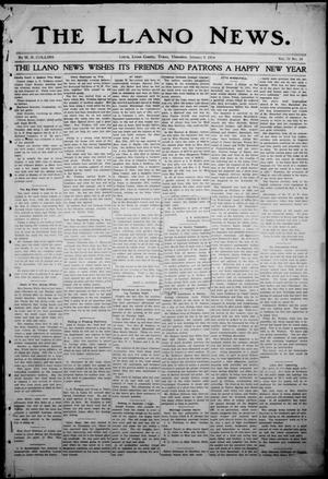Primary view of object titled 'The Llano News. (Llano, Tex.), Vol. 30, No. 24, Ed. 1 Thursday, January 8, 1914'.