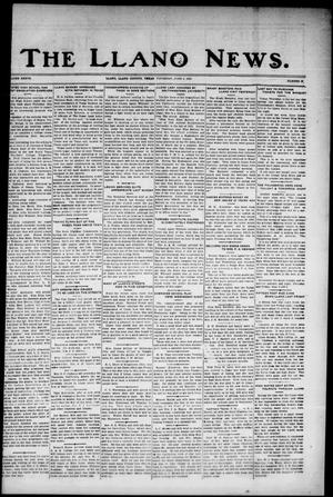 Primary view of object titled 'The Llano News. (Llano, Tex.), Vol. 37, No. 42, Ed. 1 Thursday, June 4, 1925'.