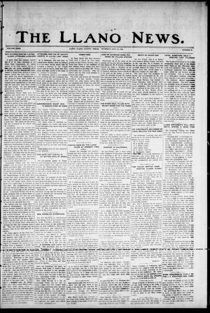 Primary view of object titled 'The Llano News. (Llano, Tex.), Vol. 40, No. 44, Ed. 1 Thursday, July 12, 1928'.