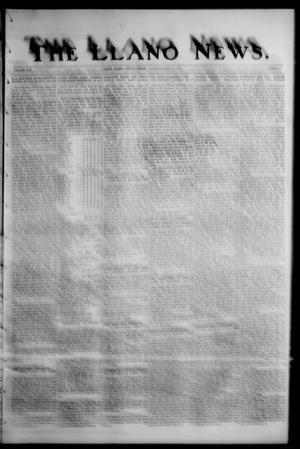 Primary view of object titled 'The Llano News. (Llano, Tex.), Vol. 42, No. 43, Ed. 1 Thursday, July 17, 1930'.