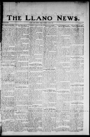 Primary view of object titled 'The Llano News. (Llano, Tex.), Vol. 39, No. 41, Ed. 1 Thursday, June 23, 1927'.