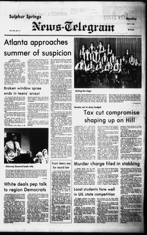 Primary view of object titled 'Sulphur Springs News-Telegram (Sulphur Springs, Tex.), Vol. 103, No. 111, Ed. 1 Monday, May 11, 1981'.