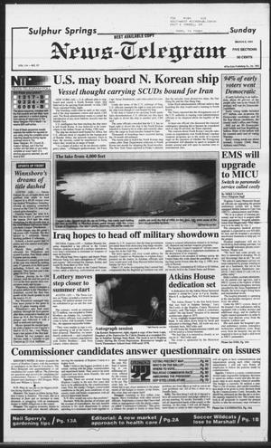 Primary view of object titled 'Sulphur Springs News-Telegram (Sulphur Springs, Tex.), Vol. 114, No. 57, Ed. 1 Sunday, March 8, 1992'.