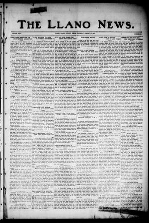 Primary view of object titled 'The Llano News. (Llano, Tex.), Vol. 35, No. 52, Ed. 1 Thursday, August 16, 1923'.
