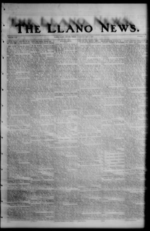 Primary view of object titled 'The Llano News. (Llano, Tex.), Vol. 42, No. 33, Ed. 1 Thursday, May 8, 1930'.